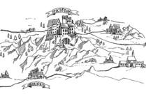Burg Pajštún Zeichnung
